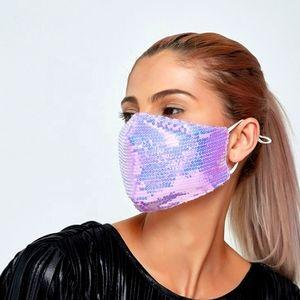 Pastel Purple Sequin Face Mask